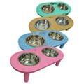 TenderCare《寵物工學設計架》木製雙槽狗碗餐桌