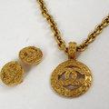 【9成新】CHANEL 香奈兒經典款雙C飾品套組/項鍊,耳環現金價$6,800