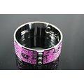【~COACH~】美國原裝 COACH 高質感 新款紫色馬車圖形LOGO 時尚手環