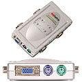 輕巧掌上型NUSWITCH 4埠PS2介面多電腦切換器IC-S14 ◎4 PORT PS/2 KVM