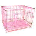 ☆米可多寵物精品館☆3尺靜電式狗籠粉紅色靜電烤漆摺疊+粉色尿盤狗屋(雙門)