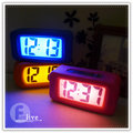 【Q禮品】B0780 方角圓角軟質橡膠時鐘/鬧鐘/電子鐘/貪睡功能/LED顯示加上夜燈讓您居家充滿時尚風格!