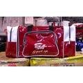 「野球魂」--特價!「SA」大型遠征袋(EQ-2,酒紅×白色)