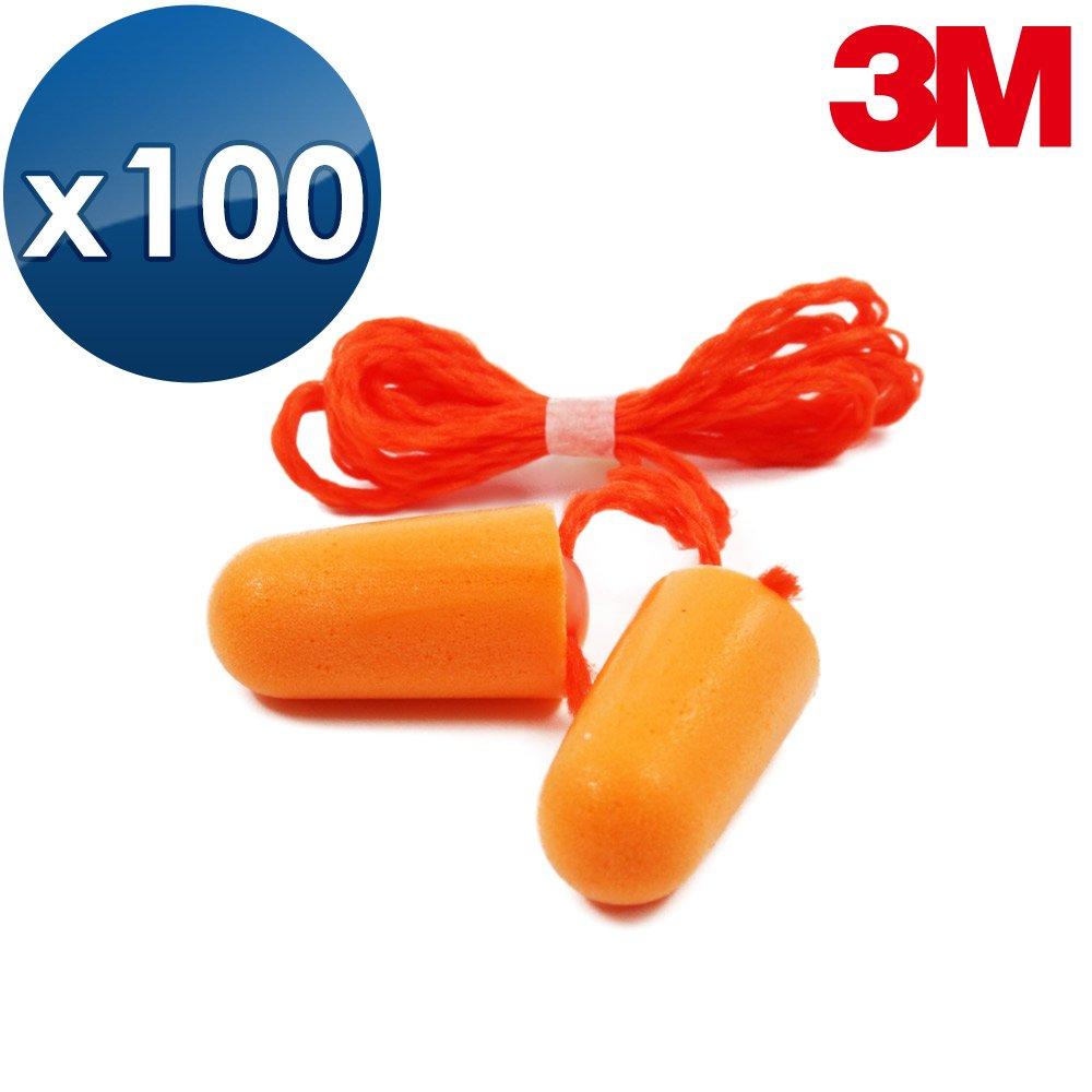 3M 子彈型 軟式耳塞【醫碩科技 1110*100】海棉耳塞有連接線 耳塞1盒100副 送收納盒 免運