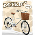 TMBK綠色工廠 BAOLI Milk 24吋6段可愛牛奶車淑女車 感謝各位熱烈迴響商品限量進貨