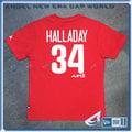 【ANGEL NEW ERA】MLB Majestic 費城費城人隊 HALLADAY 哈勒戴 背號短T 紅 6030245-150