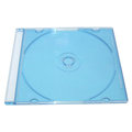 DigiStone 12 cm 單片超薄 5mm CD/DVD硬殼收納盒-- 藍透明色硬盒/藍底 100PCS=台灣精品,台灣製造!!!