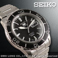 SEIKO 精工錶 國隆 SNZH55J1 新水鬼盾牌五號高質感 黑面時尚機械錶 保固一年 開發票