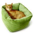 【來店自取$650】美國Smartykat深度睡眠超柔軟貓窩(綠色)寵物窩懶貓床