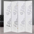 《C&B》玫瑰園典雅雕刻屏風-白色