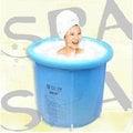 加厚版 韓版[水美顏]折疊浴缸/折疊浴桶 泡澡桶/沐浴桶《現貨供應》