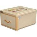 聯府 百威抽屜整理箱 JN845 JN-845 米黃棕色 單層 1層(塑膠) (置物箱/置物櫃/整理箱/整理櫃/收納箱/收納櫃/抽屜箱/抽屜櫃/斗櫃/組合收納)