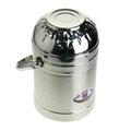 和風雙層不銹鋼提鍋1.3L (溫美) 和風 二層 不鏽鋼 保溫鍋-1.3公升 蓋=碗使用好幫手