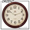 日本品牌-東方ORIENT-C2201R簡約圓形夜光時鐘/時尚掛鐘