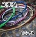 【小新的吉他館】AURORA 美國進口黑色民謠弦(12-54)