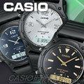 CASIO時計屋 卡西歐雙顯錶 AW-49H 中性錶 流線型圓弧 防水 橡膠錶帶 保固 附發票 (AW-49HE)