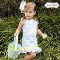 Mud Pie 天空藍可愛兔寶寶洋裝 #176005