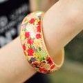 【日本帶回。Forever21】民族風百花輕盈木質手環