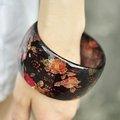 【日本帶回。Forever21】民族風冶艷花海寬版手環