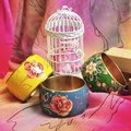 【日本帶回。Forever21】民族風艷玫瑰金屬寬版手環