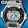 CASIO 時計屋 卡西歐電子錶 W-S220D-1A 太陽能電力慢跑錶 不鏽鋼 100米防水 全新 保固 附發票