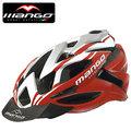 【MANGO-129 義大利】自行車安全帽(紅白).P219-M129 腳踏車.卡打車.單車.小折.頭盔