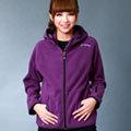 【舒適棉感】雙刷毛保暖連帽女外套 - 摩登紫-保暖外套/連帽外套/百搭/戶外休閒/FLEECE