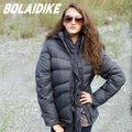 【波萊迪克bolaidike】 女 單件式水鳥羽絨外套.夾克.羽絨衣.羽毛衣.保暖外套 /防潑水/深灰 TF028