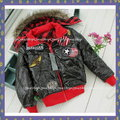 ☆寬媽小舖C076☆歐洲GeeJay龐克風超酷雙面穿紅格鋪棉連帽外套(128CM)