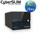 【強越電腦】CyberSLIM S82M-U3R 6G 3.5吋 USB3.0 2BAY 雙層硬碟外接