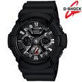 GA-201-1ADR CASIO G-Shock 強烈金屬機械錶面設計,打造嶄新視覺之指針雙顯錶 男錶/電子錶/黑色 GA-201-1A
