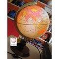 *文具館*文具部-台灣製H0005-8吋 (木座/附燈)地球儀 原價1100元 特價810元