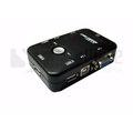 【Safehome】USB KVM 1對2 手動切換器 可用一組螢幕、鍵盤、滑鼠操作兩台電腦 SKU102