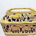 【Out of AFRICA】出清特賣-非洲風木紋鏤空雕刻水果籃-含把手上蓋
