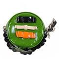 【9成新】MIU MIU 時尚經典浮雕LOGO蝴蝶結飾鑰匙掛鈎零錢包.綠現金價$5,800