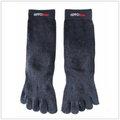 HIPPOmate強竹炭健康五指襪 (吸溼 除臭 抗菌) 雨鞋必備 不悶熱 不腳臭問題