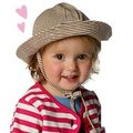 *Mombabyfun* Zutano│嬰幼兒寶寶 遮陽帽系列- 巧克力條紋款 # I39-CHOC
