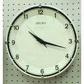 【SEIKO】日本精工碟型細緻刻度靜音 時鐘 掛鐘 QXA0490W 直徑30CM(神梭鐘錶)