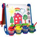 本月促銷~~【美國ALEX】折疊式兒童專用畫架(超值組)送Giotto 250ML顏料四瓶+小手筆刷四隻