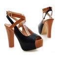 【ALicE】Y080-9華麗挑戰.復古風牛津粗跟鞋-黑