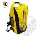 【Outdoor Active】暢銷款 WaterProof 500D 40L 專業壓縮防水背包/三用防水袋(雙肩式)隧道式散熱.適溯溪.浮潛.水上活動 (鮮黃) OA-WP01