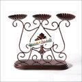 【yapin小舖】古典造型.鄉村風味.鍛鐵製造燭臺.居家擺飾.家飾.綠方