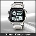 【時間工廠】全新公司貨 CASIO 10年電力 世界時間方型復古錶款 AE-1200WHD-1A