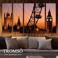 ☆大樹小屋☆【H0309107】瑞典TROMSO 時尚無框畫-W83輝煌英倫/ 巨幅 倫敦 摩天輪