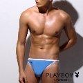 【PlayBoy】MIT-萊卡經典款超細纖維高叉三角內褲(水藍)-PN066A