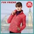 【Fox Friend】女款WINDSTOPPER 完全防風外套.保暖刷毛外套 / 防潑.吸濕 排汗 透氣 快乾 保暖 抗菌 抗靜電 / 728-粉桃