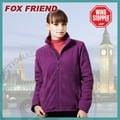 【Fox Friend】女款WINDSTOPPER 完全防風外套.保暖刷毛外套 / 防潑.吸濕 排汗 透氣 快乾 保暖 抗菌 抗靜電 / 728-紫色