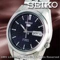 CASIO 手錶專賣店 國隆 SEIKO 精工錶 SNK357K1 深藍盾牌五號LOGO機械錶 自動上鏈 一年保固 開發票
