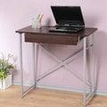 《Homelike》創思單抽NB桌-80x40cm 電腦桌 書桌 工作桌 寫字桌 兒童桌 (胡桃色)