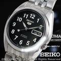 CASIO 手錶專賣店 國隆 SEIKO 精工錶 SNK381K1 黑面背透數字刻度機械錶 自動上鏈 一年保固 可開發票